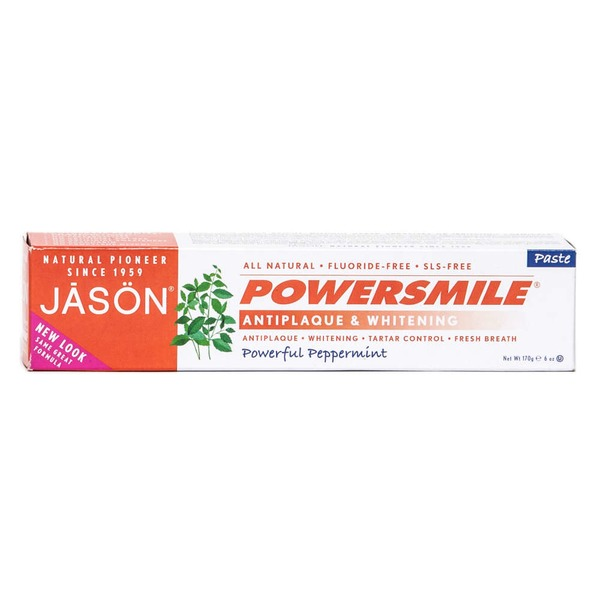 Jason Powersmile All Natural Paste Antiplaque & Whitening Powerful Peppermint