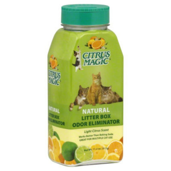 Citrus Magic Pet Litter Box Odor Eliminator Light Citrus Scent