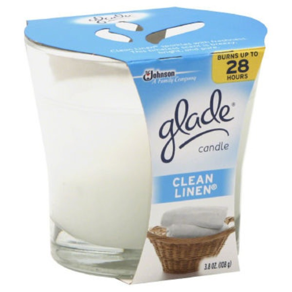 Glade Clean Linen Jar Candle