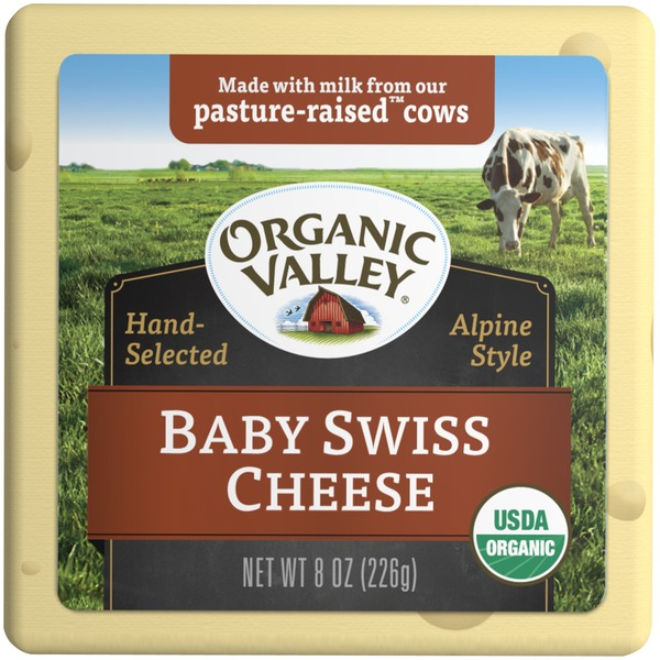Organic Valley Baby Swiss Cheese