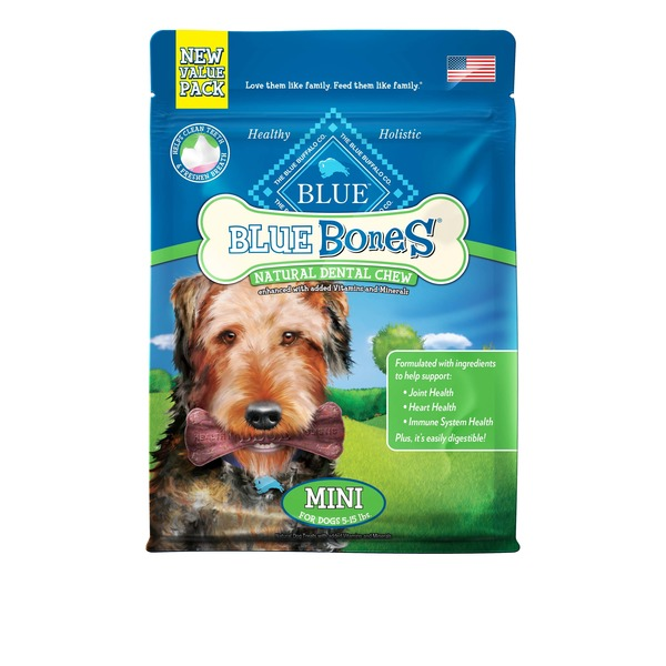 Blue Buffalo Dental Chew, Natural, Mini, Value Pack
