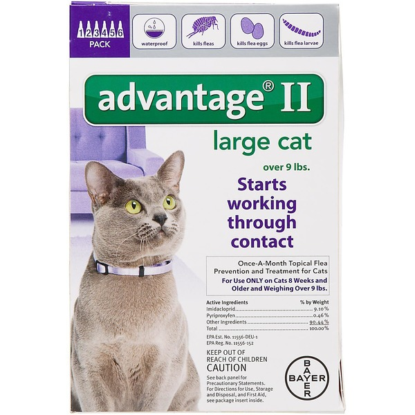Advantage Ii Once A Month Topical Large Cat Flea Treatment