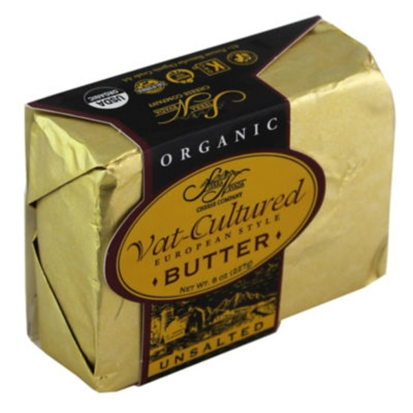 Sierra Nevada Organic Vat-Cultured European Style Unsalted Butter