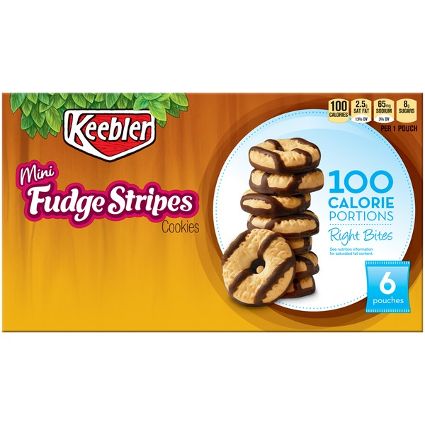 Keebler 100 Calorie Right Bites Fudge Stripes Mini Cookies