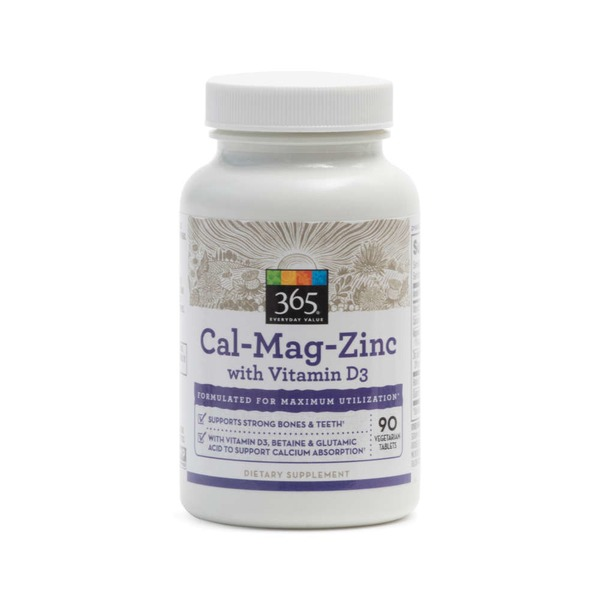 Whole Foods Market Cal-Mag-Zinc With Vitamin D3 Vegetarian Tablets
