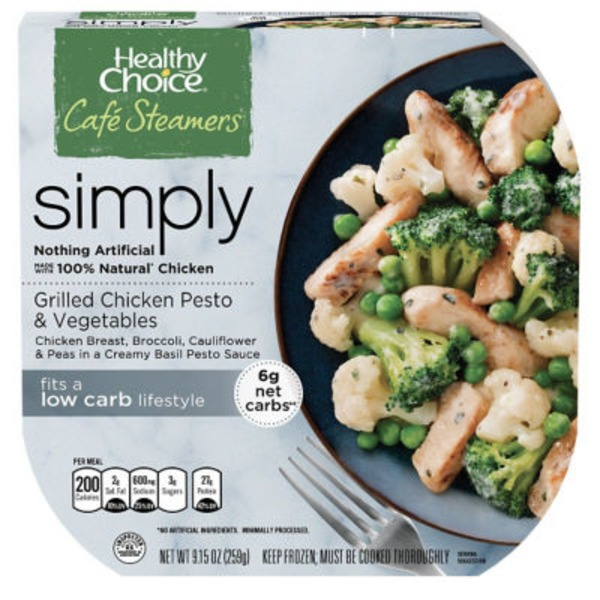 Healthy Choice Grilled Chicken Pesto & Vegetables Café Steamers