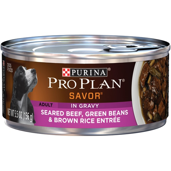 Pro Plan Dog Wet Savor Adult Seared Beef Green Beans & Brown Rice Entree in Gravy Dog Food