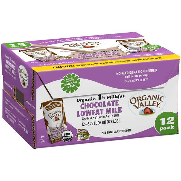 Organic Valley Organic 1% Milkfat Lowfat Chocolate Milk