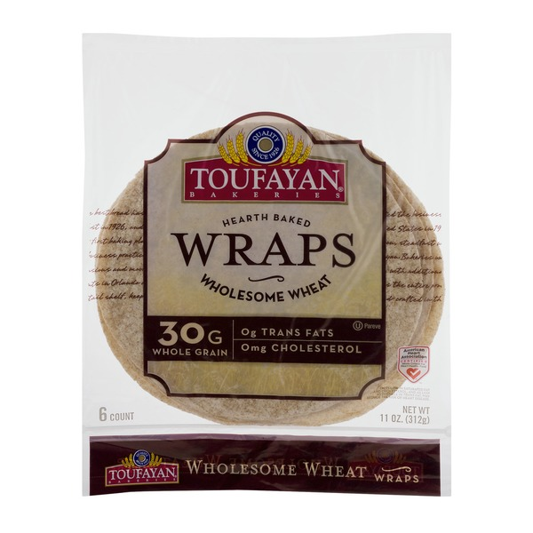 Toufayan Bakeries Wraps Wholesome Wheat - 6 CT