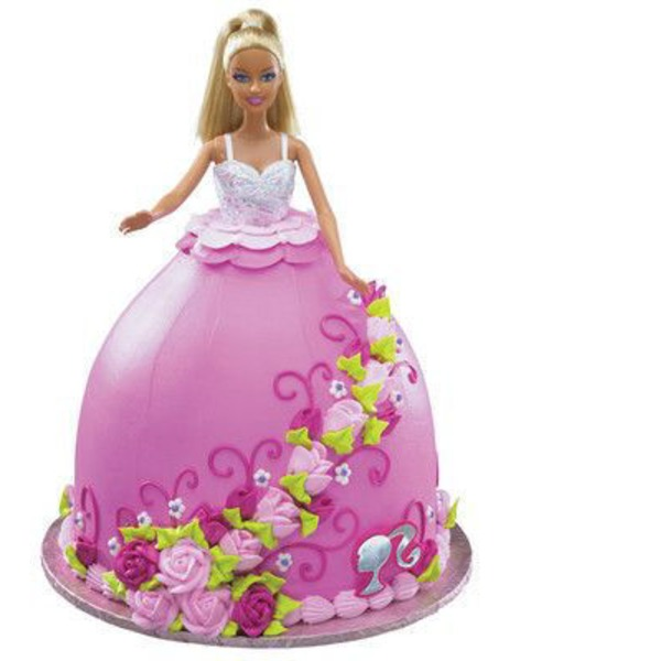 Barbie Doll Chocolate Cake With Elite Icing