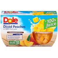 Dole Fruit Bowls Diced Yellow Cling Peaches in 100% Juice