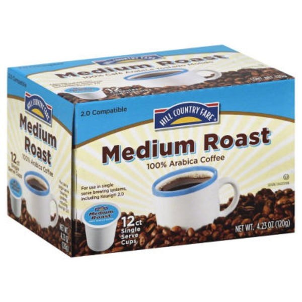 Hill Country Fare Medium Roast Single Serve Coffee Cups