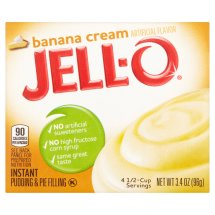 Jell-O Instant Pudding & Pie Filling Banana Cream, 3.4 Oz