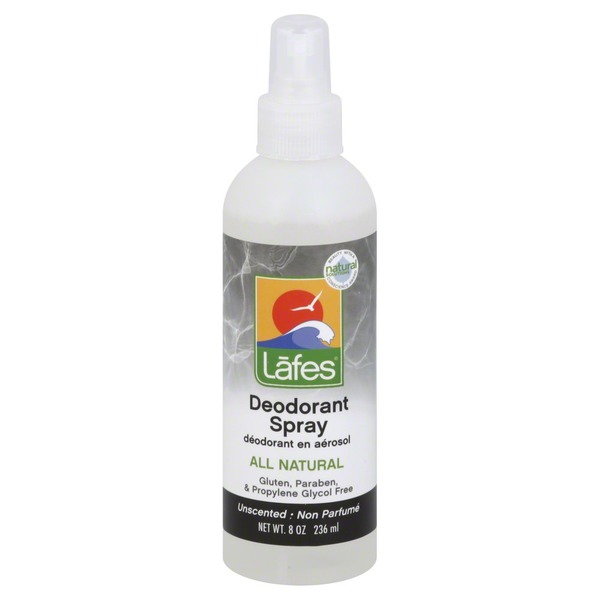 Lafes Deodorant, Spray, Unscented