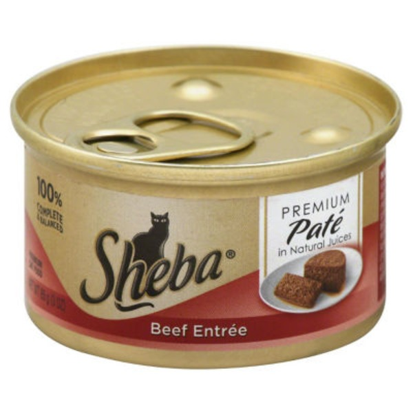 Sheba Pate in Natural Juices Beef Entree (PS #5179921) Wet Cat Food