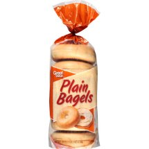 Great Value White Bagels, 6 ct, 18 oz