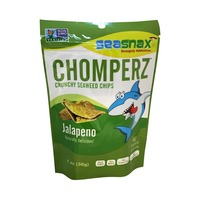 SeaSnax Jalapeno Chomperz Crunchy Seaweed Chips