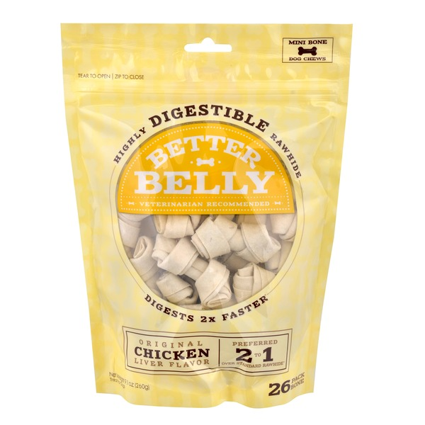 Better Belly Chicken Rawhide Mini Dog Chews