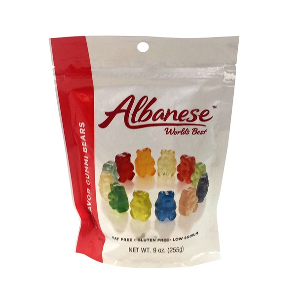 Albanese Fat Free, Gluten Free, Low Sodium, 12 Flavor Gummi Bears, Bag