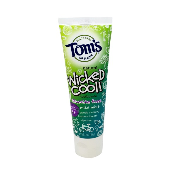 Toms of Maine Wicked Cool! Fluoride Free Mild Mint Toothpaste
