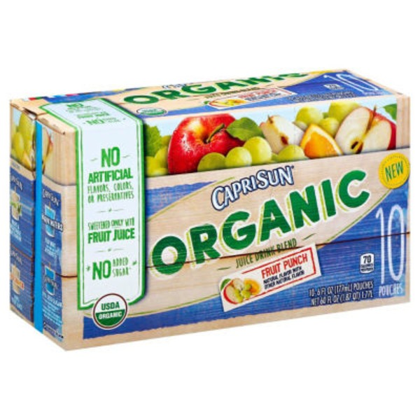 Caprisun Organic Fruit Punch Juice Drink