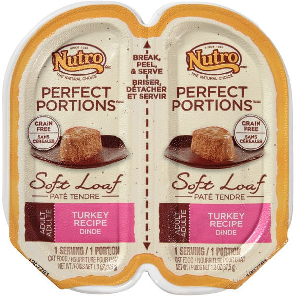 Nutro Perfect Portions Adult Soft Loaf Turkey Recipe Cat Food