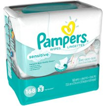 Pampers Gentle Clean Sensitive Baby Wipes, 3 packs of 56 (168 count)
