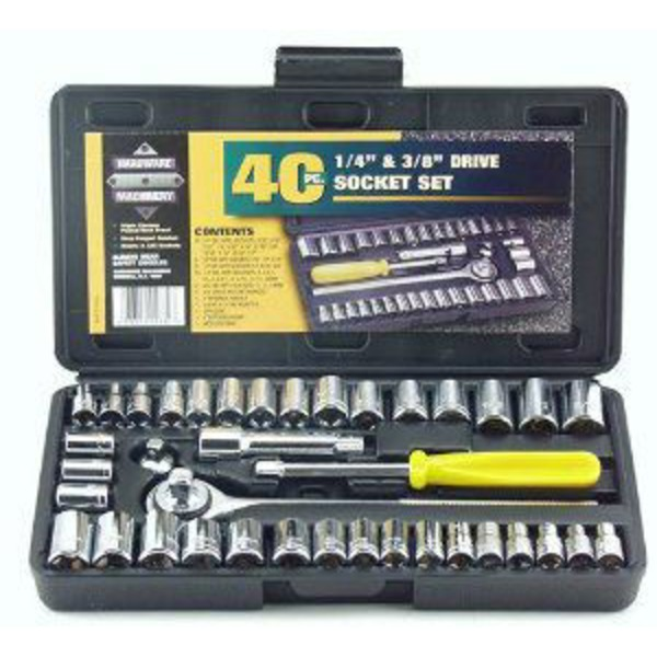 Great Neck 40 Piece Driver Socket Set 1/4 Inch & 3/8 Inch