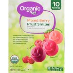 Great Value Organic Mixed Berry Fruit Smiles, 10 pouches