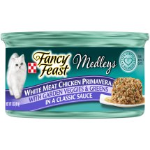 Purina Fancy Feast Medleys Classic White Meat Chicken Primavera With Garden Veggies & Greens Adult Wet Cat Food - 3 oz. Can