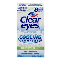 Clear Eyes Cooling Comfort Itchy Eye Relief Eye Drops