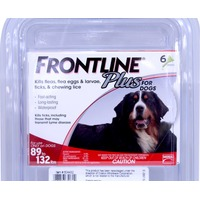 Frontline Flea Treatment Plus Pipettes For Extra Large Dogs