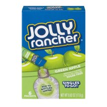 Jolly Rancher Singles To Go! Low Calorie Drink Mix Sugar Free Green Apple - 6 PK, 0.62 OZ