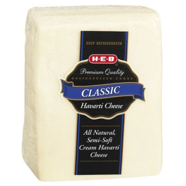 H-E-B Deli Classic Havarti Cheese, Sold By The Pound