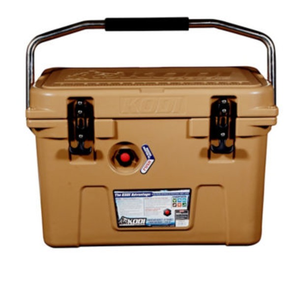 H-E-B 20 Qt Brown Kodi Cooler