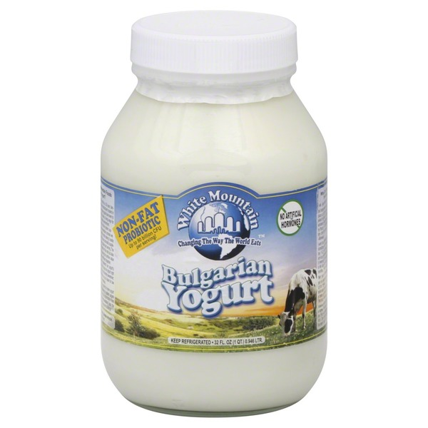 White Mountain Yogurt, Bulgarian, Non-Fat