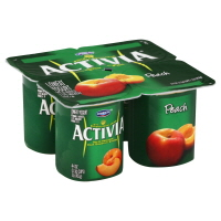 Dannon Activia Yogurt Peach - 4