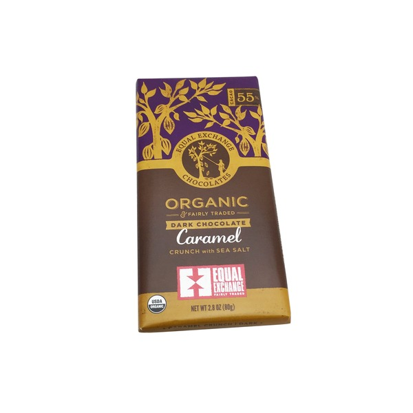 Equal Exchange Organic Caramel Crunch With Sea Salt Chocolate Bar