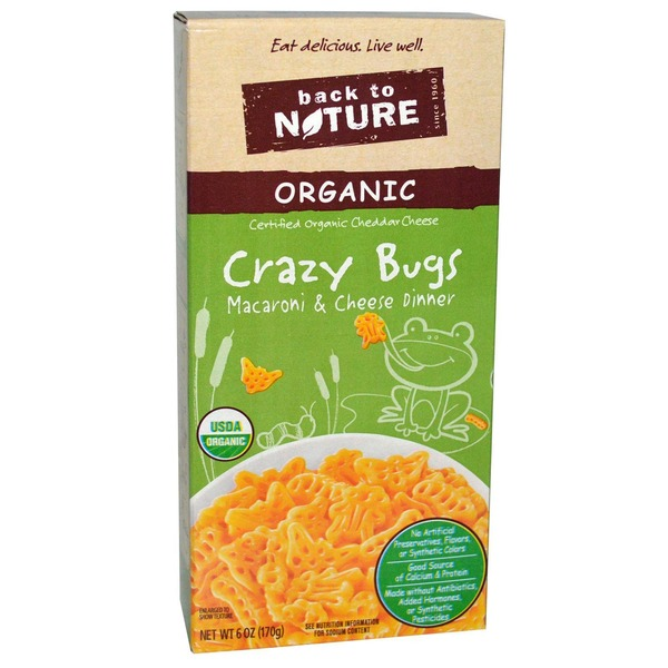 Back to Nature Crazy Bugs Organic Macaroni & Cheese Dinner