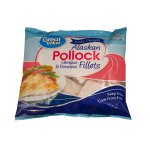 Great Value Wild Caught Alaskan Pollock Skinless & Boneless Fillets, 4.2lbs