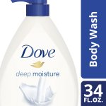 Dove Deep Moisture Body Wash Pump 34 oz