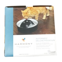 Harmony Automatic Deluxe Cat Fountain Ceramic Black/White
