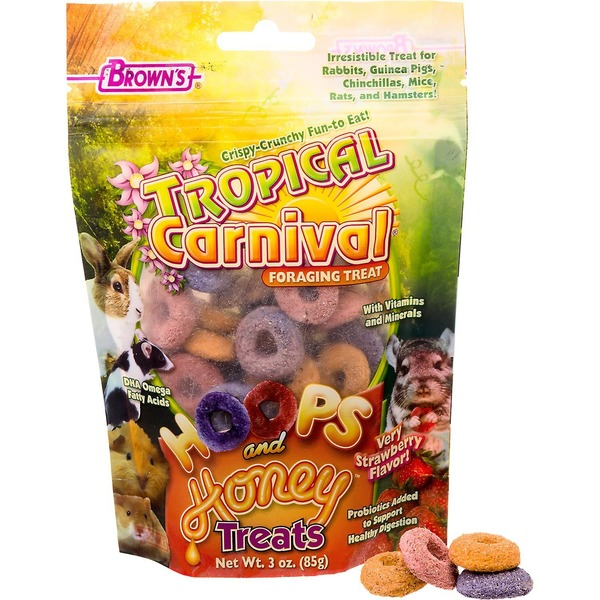 Brown's Tropical Carnival Hoops With Honey Treats Very Berry Flavor