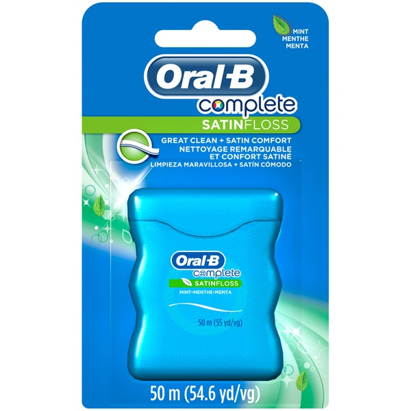 Oral-B Satin Oral-B Complete SatinFloss, Mint, 50 M  Dental Floss