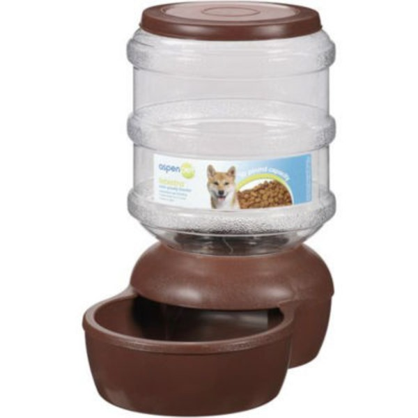 Aspen Pet Brown Le Bistro Gravity 10 Lb Feeder