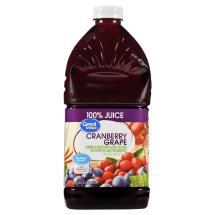 Great Value 100% Cranberry Grape Juice, No Sugar Added, 64 fl oz