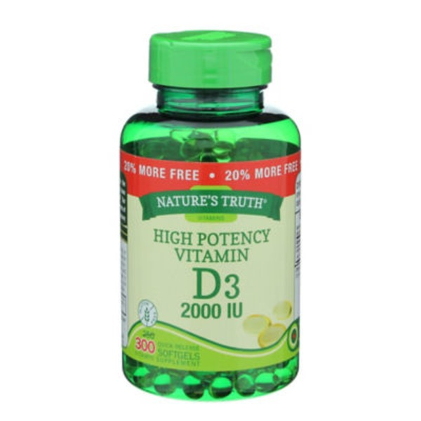 Nature's Truth Organic High Potency Vitamin D3 2000 IU