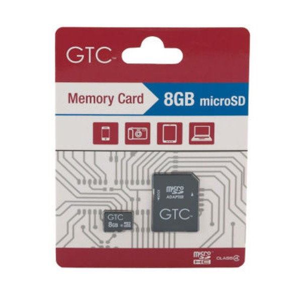 GTC 8GB SDHC Memory Card