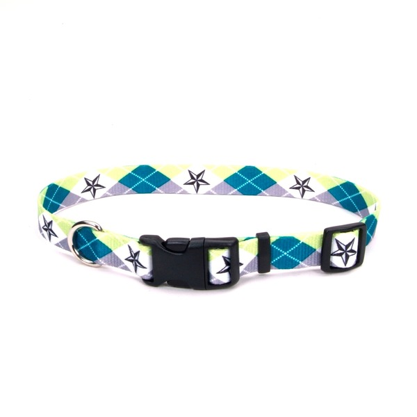 Petco Argyle Star Nylon Adjustable Dog Collar Medium