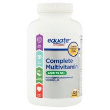 Equate mature multivitamin a thru z adults 50 tablets dietary supplement, 220 ct